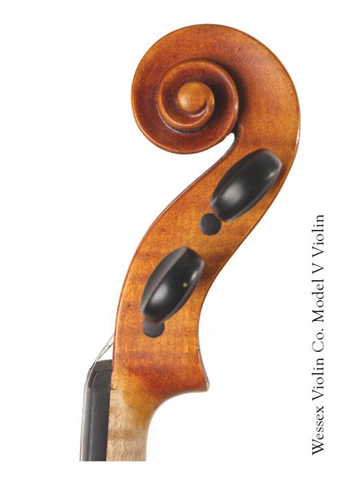 Model V Violin Scroll