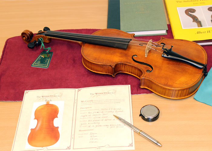 Certificate of Authenticity issued with every instrument